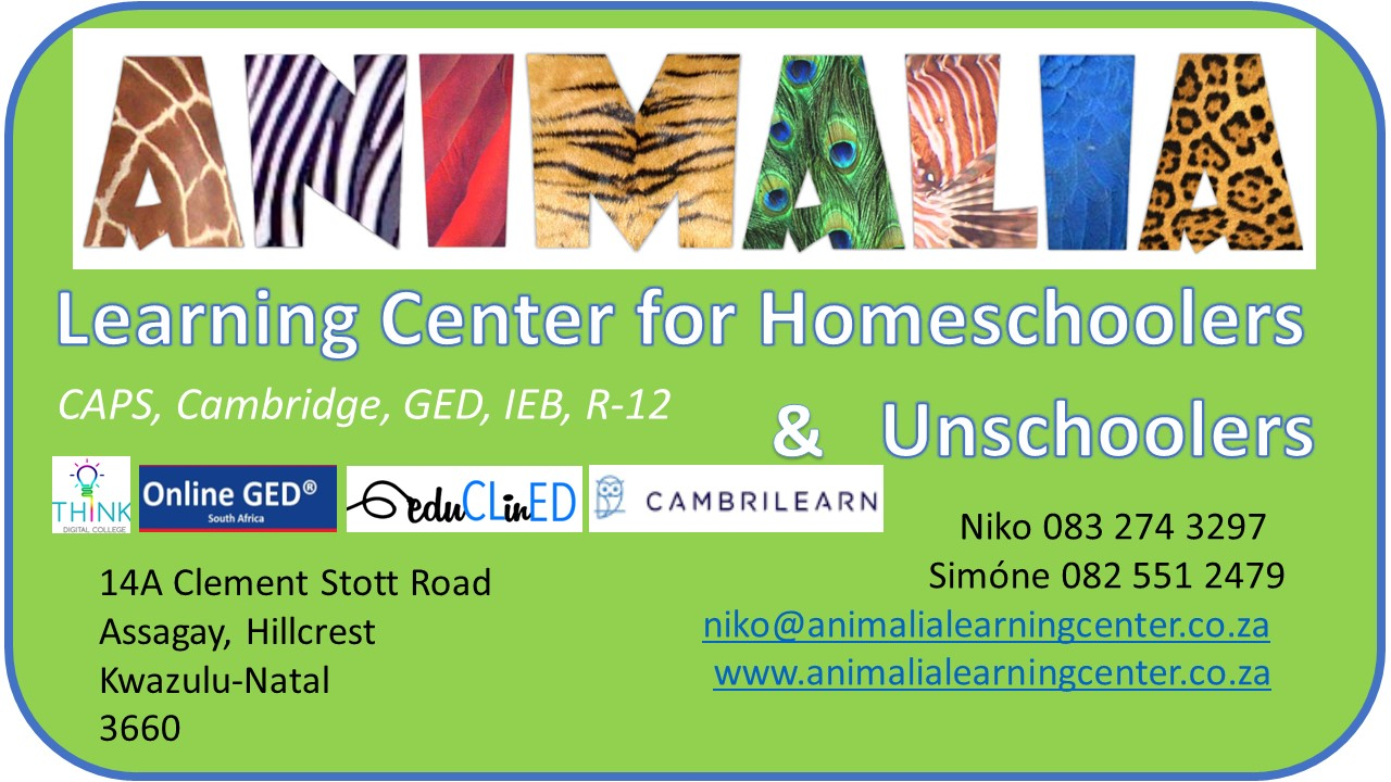 Animalia Learning Center for Home Schoolers logo and details for website